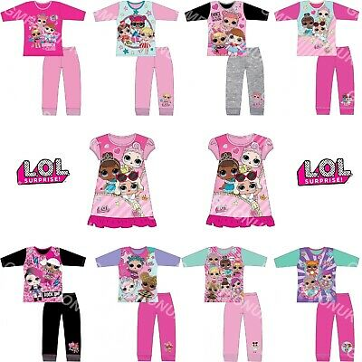 Girls Children LOL Surprise Dolls Pyjamas Nightdress Nightie Pjs Age 4-10 Years