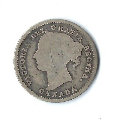 1885 Canada 10 Cents Silver Coin (Km# 3)