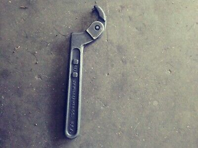 "VTG JH WILLIAMS 471 ADJUSTABLE HOOK SPANNER WRENCH 3/4"" to 2"" MACHINIST TOOL USA"