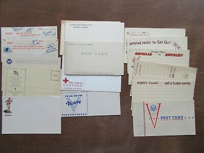 21 post cards World War II WWII unused