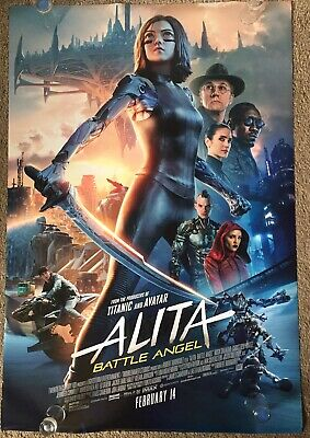 Alita Battle Angel 2019 Original Movie Poster 27x40 Double Sided