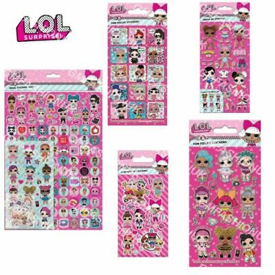Official LOL SURPRISE Reusable Activity Sticker Packs Kids Party Novelty Gift UK