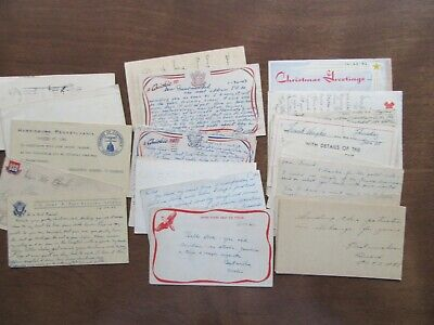 30 used post cards World War II WWII