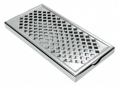 "Stainless Steel Rectangular Drip Tray Bar Pub Mat Drink 12""x 6"""