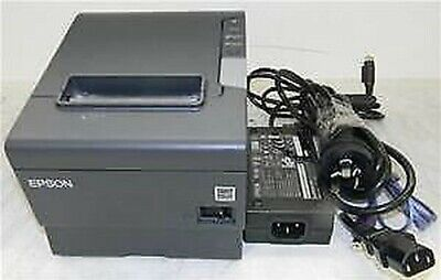 EPSON Black Thermal Receipt Serial Printer M244a TM-T88V complete