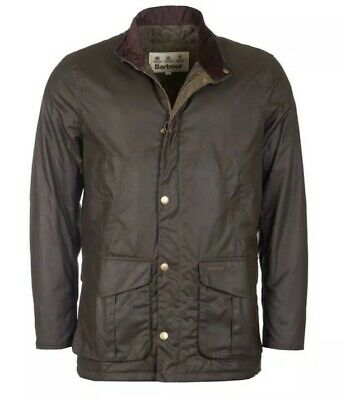 Brand New With Tag Mens BARBOUR Olive  Hereford Wax Jacket! Large! RRP £199!