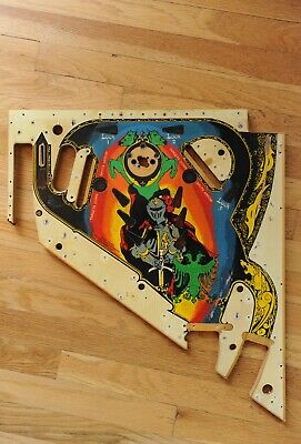 Williams Black Knight upper Pinball Playfield! Replace yours or retro Wall art!