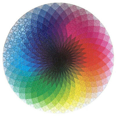 1000 Pieces Round Jigsaw, Creative Rainbow Palette Jigsaw Puzzle Game Toy N7