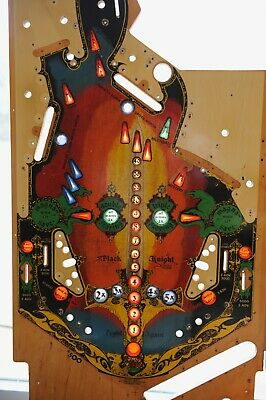 Williams Black Knight Main Pinball Playfield! Replace yours or retro Wall art!