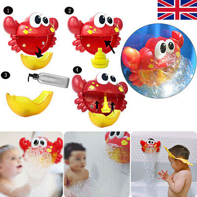 Crab Bubble Maker 12Songs Machine Musical Bath Bubble Baby Children Shower Toy Y