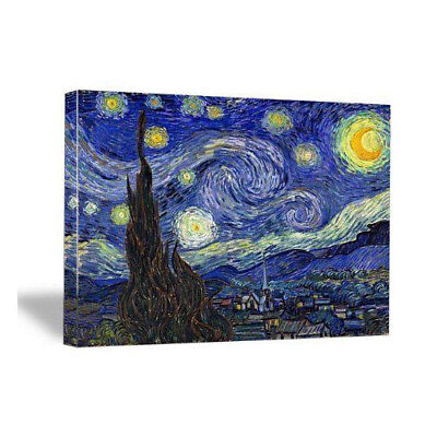 Canvas Wall Art Print Home Decor Picture Painting Repro Starry Night Van Gogh