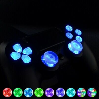 PlayStation 4 Slim / Pro LED Replacement Controller Buttons, DIY Kit For PS4