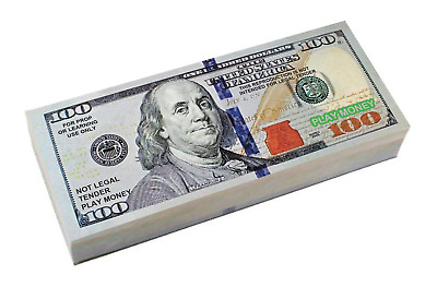 High Quality Prop Money $10,000 Ten Thousand Dollars Double Sided Bills Movies