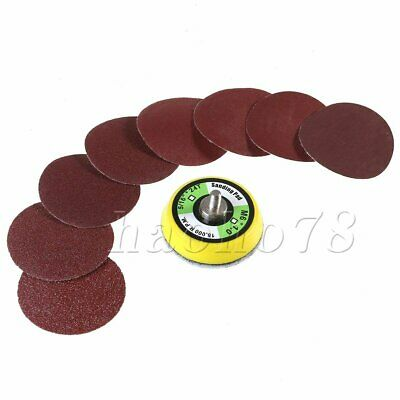 100pcs 2'' Sanding Discs Pads 60-2000 Grit Hook & Loop Sandpaper & Thread Shank