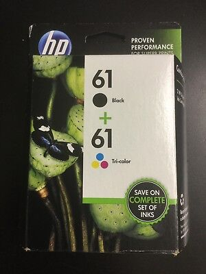 HP 61 Black/Tri-Color Combo Pack Ink Cartridges SM569AN BRAND NEW #7821 #7821