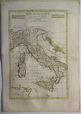 Antique Map of Italy by Rigoberto Bonne 1791