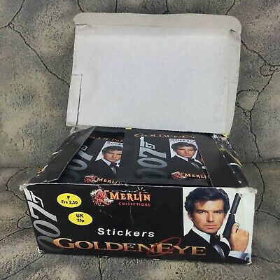 Merlin Panini James Bong Goldeneye Complete Sticker Display Box 100 Unused Packs