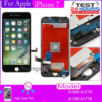 For iPhone 7 4.7'' Touch Digitizer Screen LCD Display Assembly Replacement Black