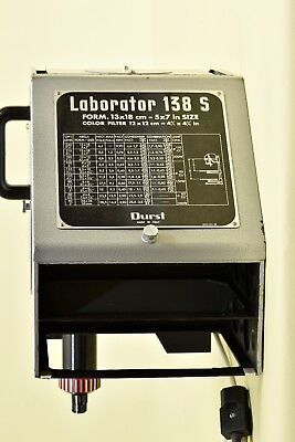 "Durst 138S enlarger head  for 5"" x 7"" half plate and 6 x 17cm negatives"