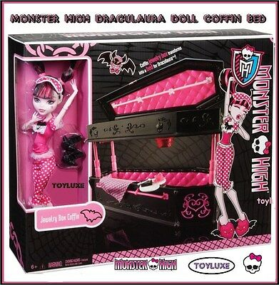Monster High Draculaura Doll & Jewelry Box Coffin Bed Collectible Exclusive Set