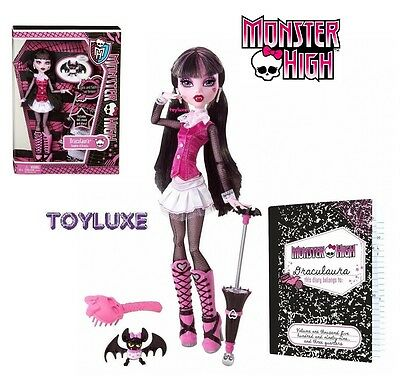 Monster High ORIGINAL Favorite DRACULAURA Doll & Pet Bat COUNT FABULOUS New RARE