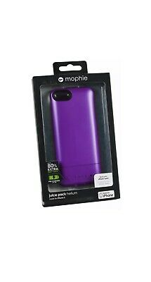 Genuine Mophie Juice Pack Battery Charger Case Cover For iPhone 5/5S/SE Purple