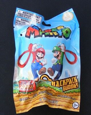New Official Super Mario Backpack Buddies Clip Blind Bag Kids Toys Collectibles