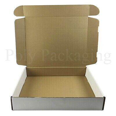 "WHITE Posting Boxes 140x130x50mm 5.5x5x2/"" Small Gift Postal Mailing Carton Box"