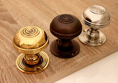 Antique Style Solid Brass Bloxwich Door Knob various finishes