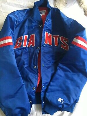 NFL New York Giants Jacket Starter Pro Line Vintage Large