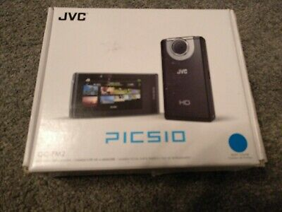 JVC PICSIO GC-FM2 FULL HD VIDEO CAMERA CAMCORDER hardly used boxed perfect
