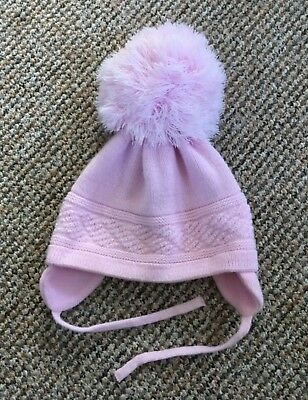 2ef3357f2dd SATILA BABY PINK Girls Large Pom Pom Hat Age 1-2 - £4.99