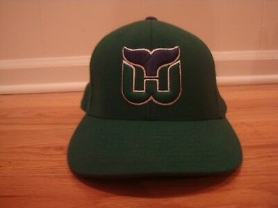 Hartford Whalers VTG style fitted 7 3 8 hat cap Mitchell   Ness retro Hockey 05945a193
