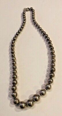 Sterling Silver Native Southwestern 16 inch Beaded Necklace