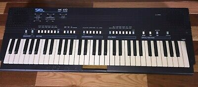 Rare Working Siel MK-610 Polyphonic Synthesizer Keyboard 61 key NO power adapter