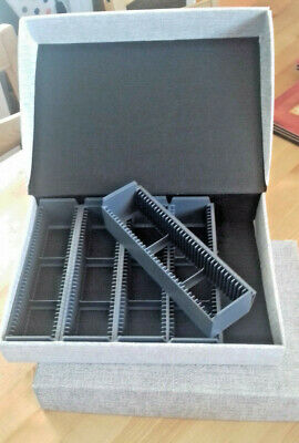 2 x 35mm Slide Storage Boxes 180 capacity trays in each (5 x 36 trays)