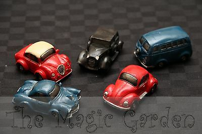 5 Cars Automobiles V.W Cement Plaster Resin Latex Moulds Molds craft