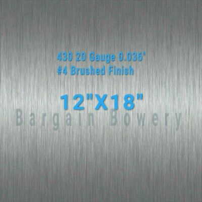 "430 stainless steel sheet 20 gauge 0.036"" inch 0.91mm 12"" x 18"" inch"