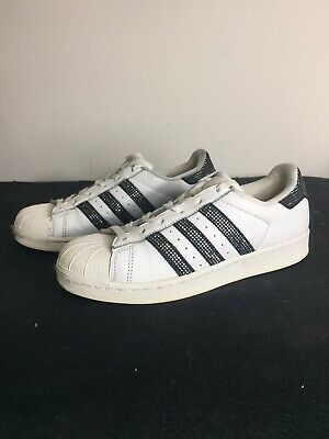 WOMENS ADIDAS SUPERSTAR Trainers Size 6.5 White Black ...