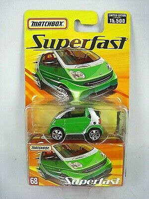 Matchbox 2005 SUPERFAST #68 Smart Fortwo Cabrio Green Limited Edition 15,500