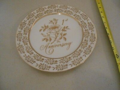 Vintage 1St Anniversary Plate Norcrest Fine China Made Japan Vg Rose Second