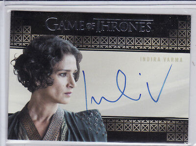 GAME OF THRONES VALYRIAN STEEL INDIRA VARMA as ELLARIA SAND AUTOGRAPH CARD