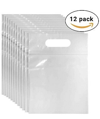 12 OFFICIAL airport security clear plastic bags for hand luggage liquids. *NEW *