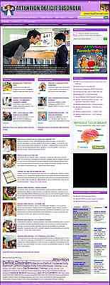 ATTENTION DEFICIT DISORDER WEBSITE BUSINESS FOR SALE! with TARGETED SEO CONTENT