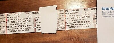 Two (2) Rolling Stones Tickets At Jazz Fest