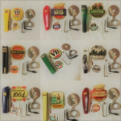 Full NEW Beer Tap & Decal Display Kit Metal Badges Mancave Free Postage!
