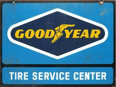 "Good Year Tire Service Center Store 9 ""x 11"" Aluminum Sign"