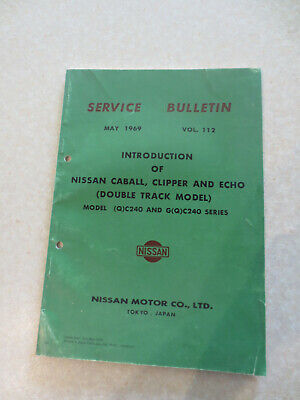 1969 1970 Nissan Caball & Clipper & Echo truck specifications info booklet