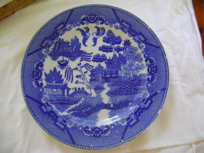 Churchill Blue Willow 9 inch Plate made in Japan