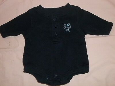 "Boys Baby Connection navy top size preemie--GUC--L/S, ""bulldogs"", dog face, snap"